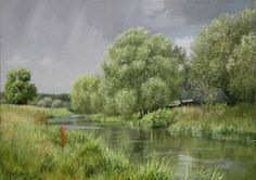 "https://www.facebook.com/MiaFeigelson ""Threatening skies"" [Sold] By Peter Barker, from Banbury, Oxfordrshire, England (current location, South Luffenham, England) - oil on board; 10 x 14 in - http://www.peterbarkerpaintings.co.uk/"