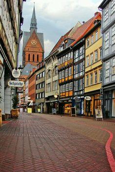 Hannover, Germany Kramerstrasse, Marktkirche Altstadt!