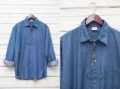 1980's True Vintage Blue Denim Long Sleeve by MrCoverVintage, $35.00