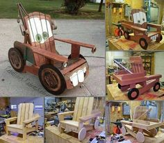 NOW THIS IS SOOO COOL!! Yep, I found the instructions for you to make it too.  A chair could be not just a chair but also a playful cartoon character. This project will show you exactly how to make a chair in the shape of Tow Mater from the popular animation movie Cars. That's a nice surprise for your kid. Here is the list of items you will need in order to complete the project. Good luck!  • a 1 by 4, 8-inch length piece of wood; • a couple 1 by 2, 8-inch length piece of wood; • two 1 by 3…