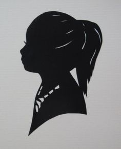 Custom Silhouette Papercutting. via etsy