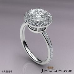 1.53ct Genuine Round Diamond Engagement Ring GIA Certified F VS2 14k White Gold.