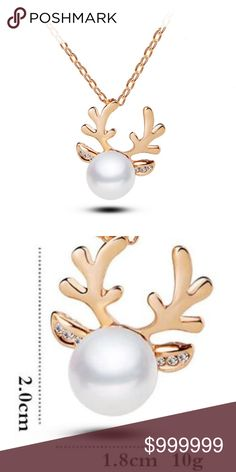 COMING!! Reindeer Pearl Pendant Gold Color COMING SOON: LIKE FOR ARRIVAL NOTIFICATION    Reindeer Pearl Pendant Gold Color    18 inches with 2 inch extender  These are the cutest Holiday / Christmas Jewelry pieces !!!    Matching earrings available    Silver color available golden threads Jewelry Necklaces