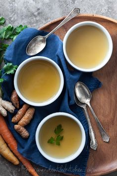 Restorative and Cleansing Vegetable Broth on gourmandeinthekitchen.com | A Nourishing and Cleansing Soup