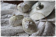 Ostereier - ♥shabby  - Ostereier aus vintage Schätzen♥ - ein Designerstück von lavendelherzl bei DaWanda