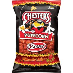 CHESTER'S® FLAMIN' HOT® Flavored Puffcorn Snacks ❤ liked on Polyvore featuring food, food and drink, chips and fillers