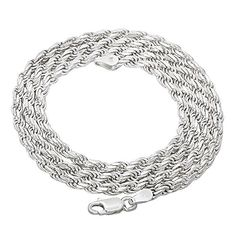 Check Out This Sterling Silver Rope Chain Diamond-Cut Necklace! Review, Material Description, Summary - A Genuine Hip Hop Fashion Product.