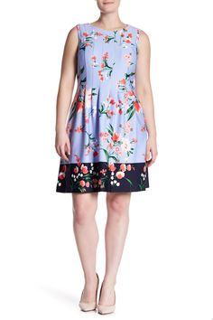 d614fbe8faed8 Vince Camuto - Release Pleat Tank Fit and Flare Dress (Plus Size) is now