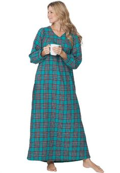 I really like the plaid/flannel nightgown! The colors are awesome and I love the long length....a bit expensive here (at Amazon) but something similar would be awesome...