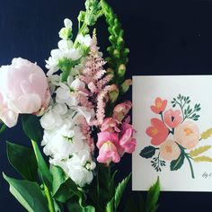 Rifle Paper Co. Peony Pink Floral card, also available an an Art Print at Northlight