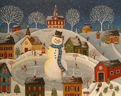 Mary Charles - Village Snowman