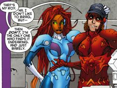 Kori and Roy [Red Hood and the Outlaws] #comics #dc
