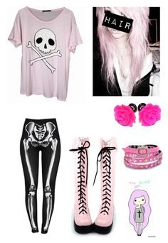 """Pastel goth"" by buried-beneath-ashes ❤ liked on Polyvore featuring Wildfox, INDIE HAIR, women's clothing, women's fashion, women, female, woman, misses and juniors"