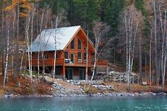 My lakefront cabin in the mountains. :)