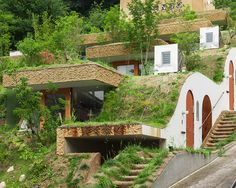 Greendo was designed by Keita Nagata in 2015. Built into the side of a mountain, the house lives and breathes together with the Earth!