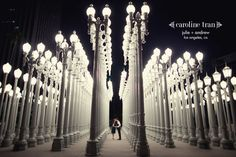 Los Angeles, CA engagement session by Caroline Tran - always been a favorite! I so want photos of us at LACMA by these lamp posts :)