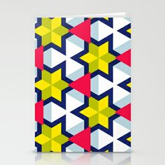 Krijgsman Pattern Stationery Cards by Stoflab - $12.00 Card Patterns, Print Patterns, Matching Colors, Geometric Art, Color Schemes, Stationery, Textiles, Colour, Abstract
