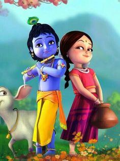 radha favourite Lord is krishnan Lord Krishna Images, Radha Krishna Pictures, Radha Krishna Photo, Krishna Radha, Radha Rani, Lord Ganesha Paintings, Krishna Painting, Krishna Drawing, Little Krishna