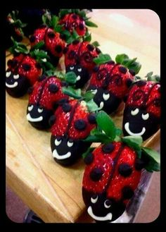 Straberry ladybugs