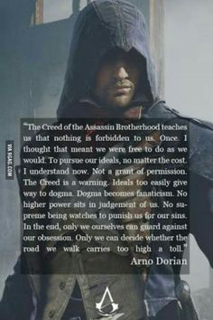One of the best speech ever from a video game ~ (Arno - assassins creed unity)