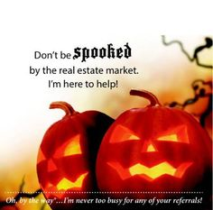 Don't be spooked by the real estate market! Brad Ruckart Real Estate Group is here to help! #RVA #Halloween