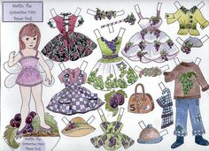 Stafilia, the Grapevine Fairy Paper Doll