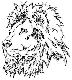T T Lion head dots String Art Templates, Painting Templates, String Art Patterns, Painting Patterns, Tulip Painting, Dot Art Painting, Pixel Art, Arte Linear, Easy Yarn Crafts