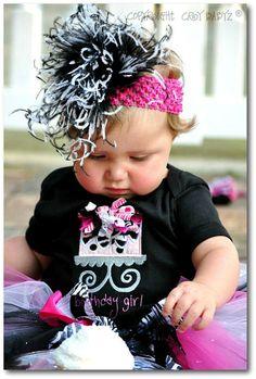 FuNkY BIRTHDAY CAKE Birthday Girl Custom Baby Bodysuit by Crybabyz,