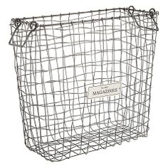 Buy John Lewis Antique Wire Magazine Organiser Online at johnlewis.com