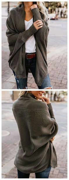 Only $36! Pavacat Open Collar Oversize Casual Cardigan. Fall fashion outfit you much have. 2017 new collection warm cardigan sweater fashion trend. fashion tips fashion ideas