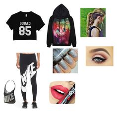 """""""SQuad"""" by thomas-patricia on Polyvore featuring beauty, NIKE and Fiebiger"""