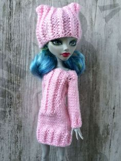 Hand-knitted baby pink long sweater hat от OrdaliaHandwork