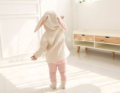 Bunny ears Hooded Fleece Sweatshirt for Girls & Boys / Bunny Hoodie / winter fall Spring outfit / toddler baby / Gray White / Easter Bunny by AngAngBabyUS on Etsy