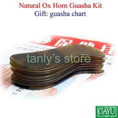 "25pcs/lot Wholesale Traditional Acupuncture Massage Tool Guasha beauty kit yellow Ox Horn ""S""shape"