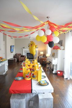 Pokemon Birthday Party...I wish I could have another Pika party!
