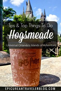 Are you a muggle planning a trip to Universal Orlando Resort's Wizarding World of Harry Potter? Here's all you need to know about butterbeer, wand shopping and hopping aboard the Hogwarts Express! Find your Universal Orlando tips today at EpicureanTravele Universal Orlando, Disney Universal Studios, Universal Studios Florida, Harry Potter Universal, Harry Potter World, Orlando Travel, Orlando Vacation, Orlando Disney, Downtown Disney