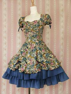 Floral lolita dress