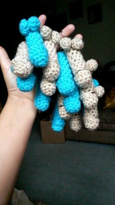 Crochet Penis Keychains with chapstick inside. Great for a bachelorette party favor ♥