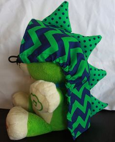 Tula hood pattern and tutorial - Flat with Spikes (dino hood)