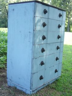 I love this style of distressed furniture for my be achy dream bedroom