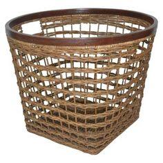 Decorative Basket Thrshd Rattan Brown Round : Target Mobile