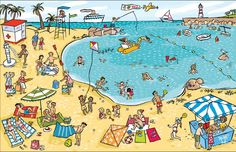 Praatplaat strand / Playa puerto