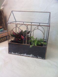 Large Glass terrarium, geometric terrarium container,window sill planter, wedding decoration, glass summerhouse, glass window box | shopswell