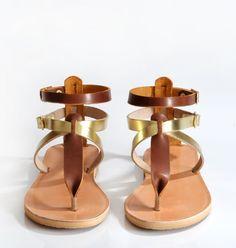 ERIS Sandals Leather sandals women Greek sandals by SAVOPOULOS