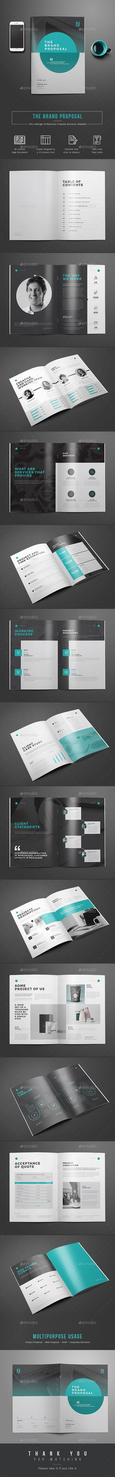 Proposal Template Design | Download https://graphicriver.net/item/proposal/16449617?ref=themedevisers