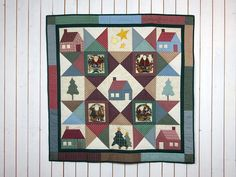 Primitive Santa, Primitive Quilts, Primitive Christmas, Christmas Wall Hangings, Shops, The Donkey, Quilted Wall Hangings, Etsy Shop, Table Toppers