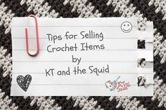 I get a lot of people asking for tips on how to sell their crochet items. I asked around and came up with a few popular topics to give you my opinion on. I realized I had so much to say on the topi...