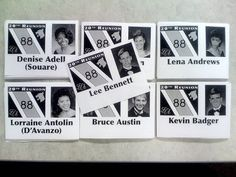 High School Reunion Name Tags with Photos - Alright Class of '87 here are some ideas!