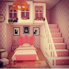 Ideas Kids Room Ideas For Girls Daughters Loft Beds Small Room Bedroom, Girls Bedroom, Bedroom Decor, Dream Rooms, Dream Bedroom, Princess Bedrooms, Creative Kids Rooms, Cool Kids Bedrooms, Cute Room Decor