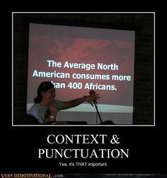 Context & Punctuation . . . #geneabloggers #humor #punctuation